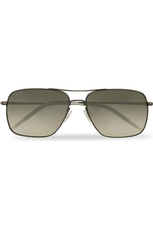 Oliver Peoples Mænd Solbriller - Clifton Sunglasses Antique Pewter/Shale Gradient