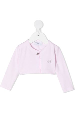 MONNALISA Rhinestone-detail buttoned cardigan