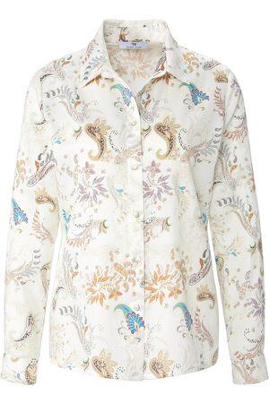 Peter Hahn Kvinder Casual - Skjorte lange ærmer i 100% bomuld Fra hvid