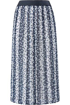 Basler Kvinder Plisserede nederdele - Plisseret nederdel elastisk linning Fra blå