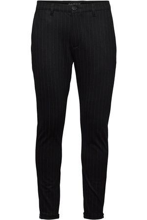 Gabba Mænd Habitbukser - Pisa Kd3920 Black Pin Pant Habitbukser Stylede Bukser