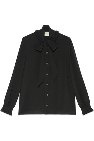 Gucci Kvinder Toppe - Silk shirt with neck bow