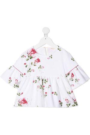 MONNALISA Blomstret skjorte med korte ærmer