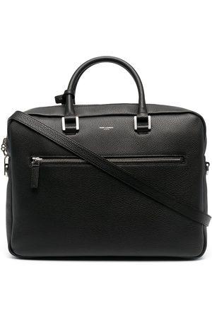 Saint Laurent Pebbled-texture messenger bag