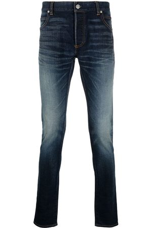 Balmain Mænd Slim - Slim-fit faded jeans