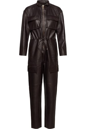 Notes Du Nord Kvinder Jumpsuits - Sassy Leather Jumpsuit Jumpsuit