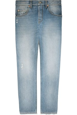 Gucci Mænd Tapered - Tapered eco bleached denim jeans