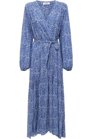 Lemlem Halima Printed Viscose Midi Robe Dress