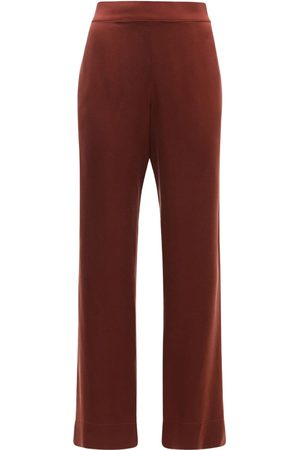 ASCENO The London Silk Satin Pajama Bottoms