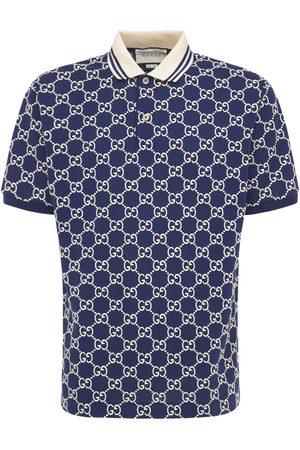Gucci Gg Jacquard Stretch Cotton Polo