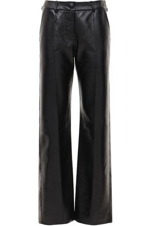 MATÉRIEL by Aleksandre Akhalkatsishvili Faux Leather Straight Pants