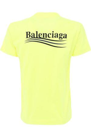 Balenciaga Political Logo Vintage Jersey T-shirt