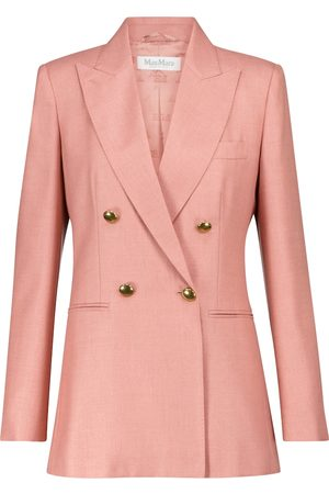Max Mara Lamine silk and camel blazer