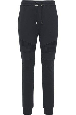 Balmain Logo Organic Cotton Jersey Sweatpants