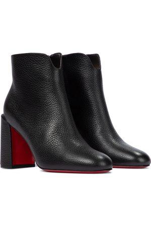 Christian Louboutin Castarika 85 leather ankle boots