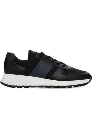 Prada Saffiano Leather & Nylon Sneakers