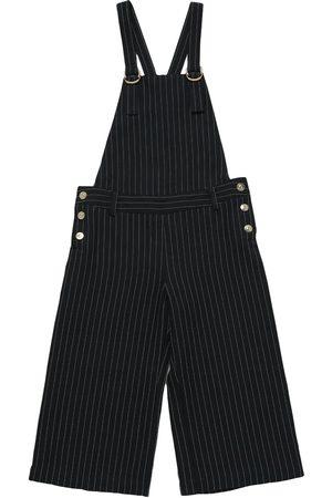 Chloé Striped Linen Blend Overalls