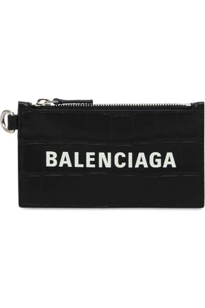 Balenciaga Croc Embos Leather Wallet