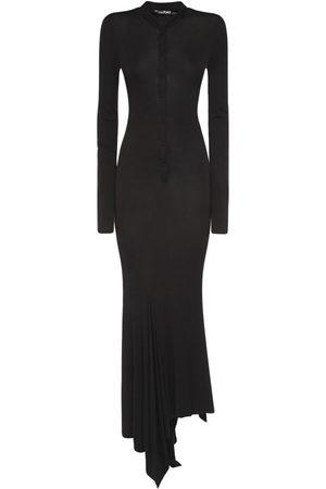 Tom Ford Asymmetrical Viscose Crepe Midi Dress