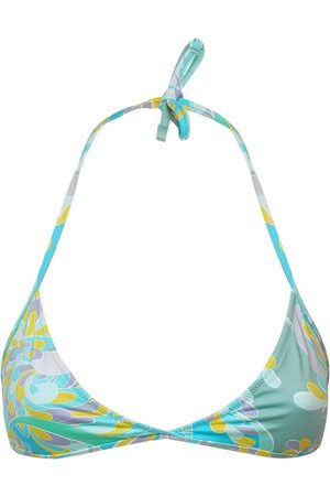 Emilio Pucci Printed Econyl Triangle Bikini Top