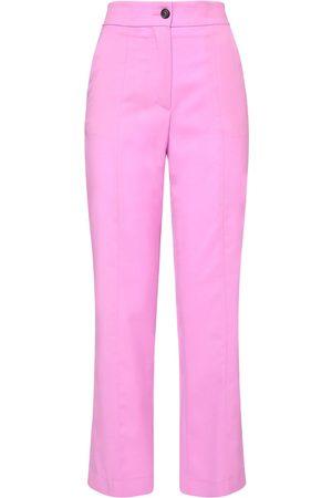 Msgm Kvinder Bukser - Straight Wool Pants