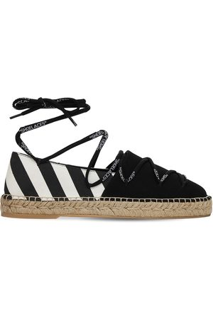 OFF-WHITE 20mm Canvas Laces Espadrille Flats