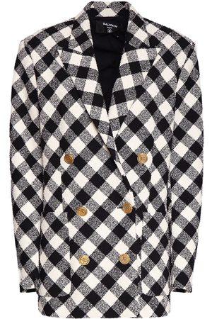 Balmain Oversize Checked Boyfriend Jacket