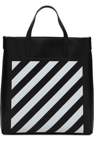 OFF-WHITE Diag Leather Tote Bag