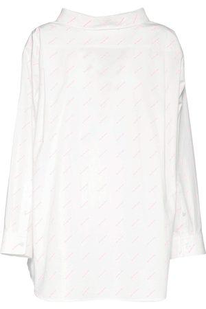 Balenciaga Logo Cotton Poplin Shirt