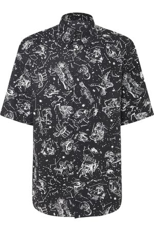 VALENTINO Zodiac Map Cotton Poplin Shirt