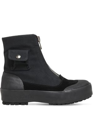 J.W.Anderson 20mm Cargo Cotton Canvas & Suede Boots