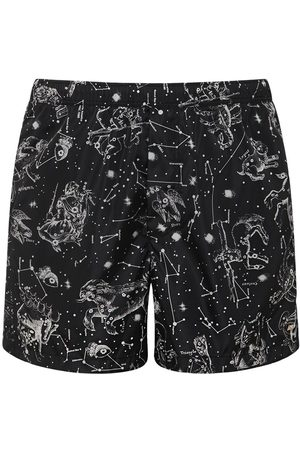 VALENTINO Zodiac Map Print Nylon Swim Shorts