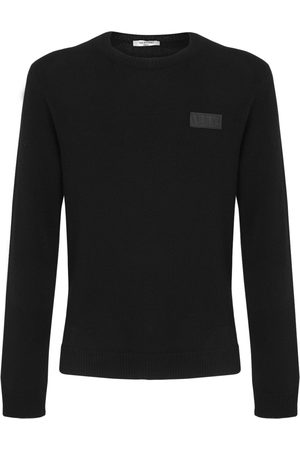 VALENTINO Vltn Patch Cashmere Knit Sweater