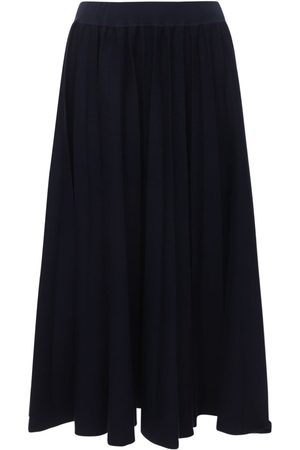 GABRIELA HEARST Mitford Pleated Wool Knit Skirt