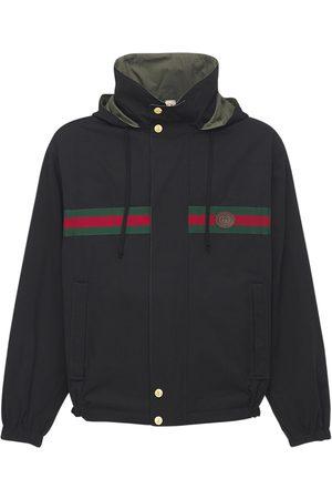 Gucci Logo Reversible Cotton & Nylon Jacket