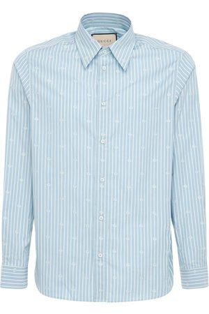 Gucci Gg Stripe Fil Coupé Cotton Shirt