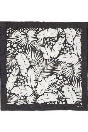 Saint Laurent Flower Printed Cotton Bandana