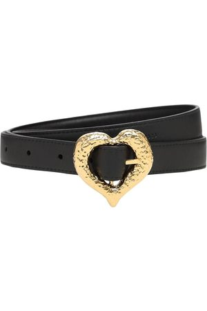 Saint Laurent Kvinder Bælter - 2cm Heart Slim Leather Belt