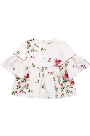 MONNALISA Floral Print Cady Top