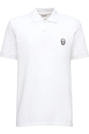 Alexander McQueen Skull Patch Cotton Polo