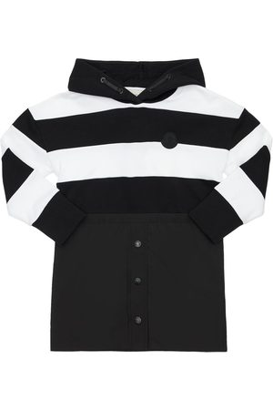 Moncler Striped Hooded Cotton Sweat Dress
