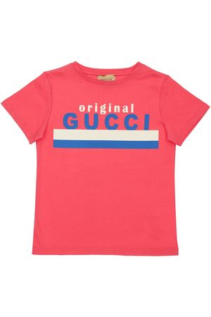 Gucci Logo Print Cotton Jersey T-shirt