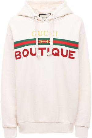 Gucci Boutique Print Cotton Jersey Hoodie
