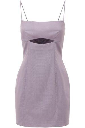 Zeynep Arcay Wool Bodycon Dress W/ Cutout