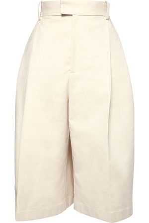 Bottega Veneta Sanded Double Cotton Long Shorts