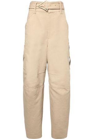 Bottega Veneta Belted Double Cotton Canvas Pants