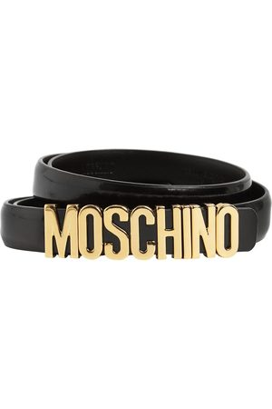 Moschino 2cm Logo Leather Belt