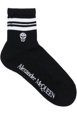 Alexander McQueen Logo Intarsia Cotton Blend Ankle Socks