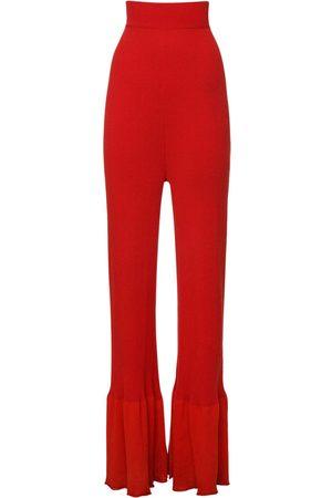 Stella McCartney Eco Cotton & Viscose Knit Wide Leg Pants