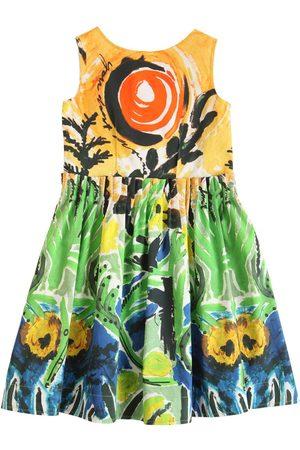 Marni Printed Cotton Satin Dress